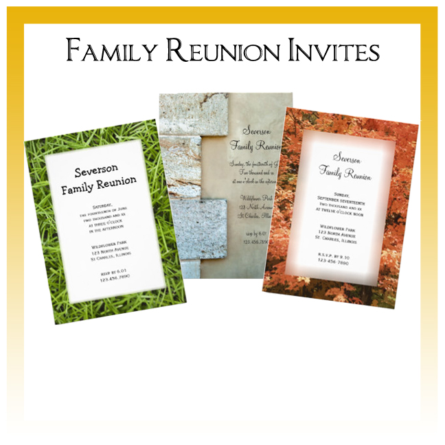 Custom Floral, Nature and Rustic Barn Family Reunion Invitations
