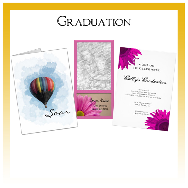 Custom Floral, Nature and Rustic Barn Graduation Invitations, Announcements and Cards