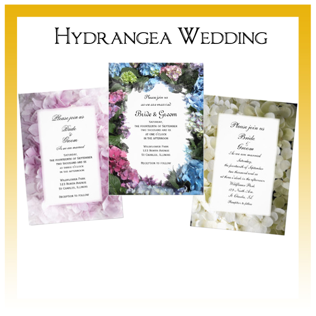Hydrangea Wedding Invitations, Save the Date Announcements, Greeting Cards and Keepsake Gifts