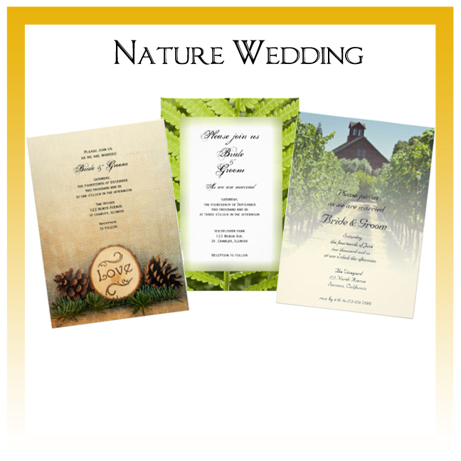 Nature Wedding Invitations, Save the Date Announcements, Greeting Cards and Keepsake Gifts
