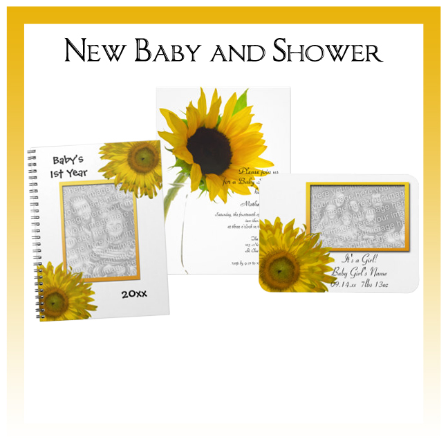 Custom Floral, Nature and Rustic Barn New Baby and Shower Invitations