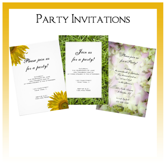 Custom Floral, Nature and Rustic Barn Birthday Party Invitations