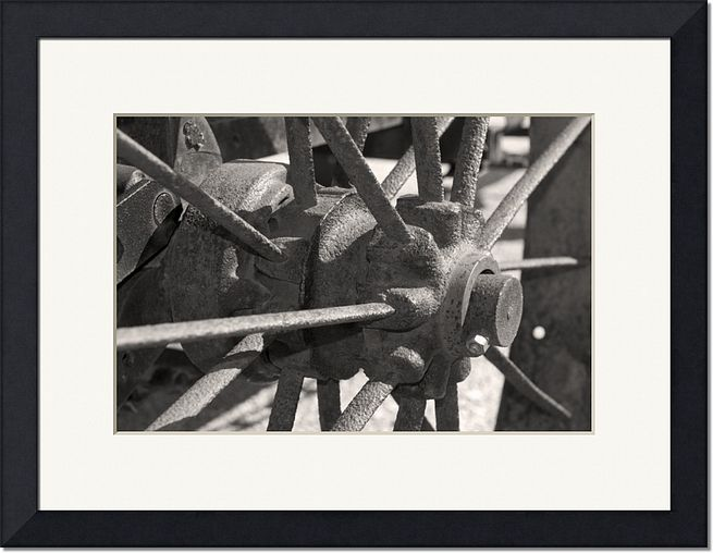 Old Wagon Wheel Farm Photography Print