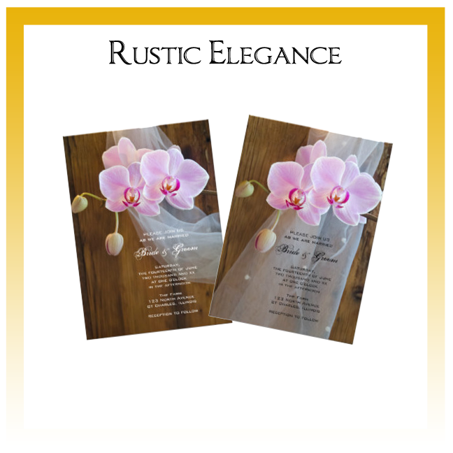 Rustic Elegance Country Wedding Invitations, Save the Date Announcements, Greeting Cards and Keepsake Gifts